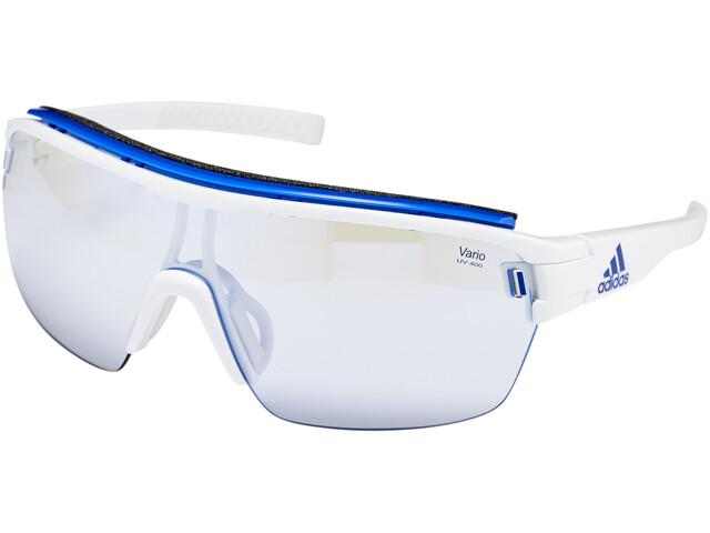 adidas Zonyk Aero Pro Glasses L white shiny/vario blue